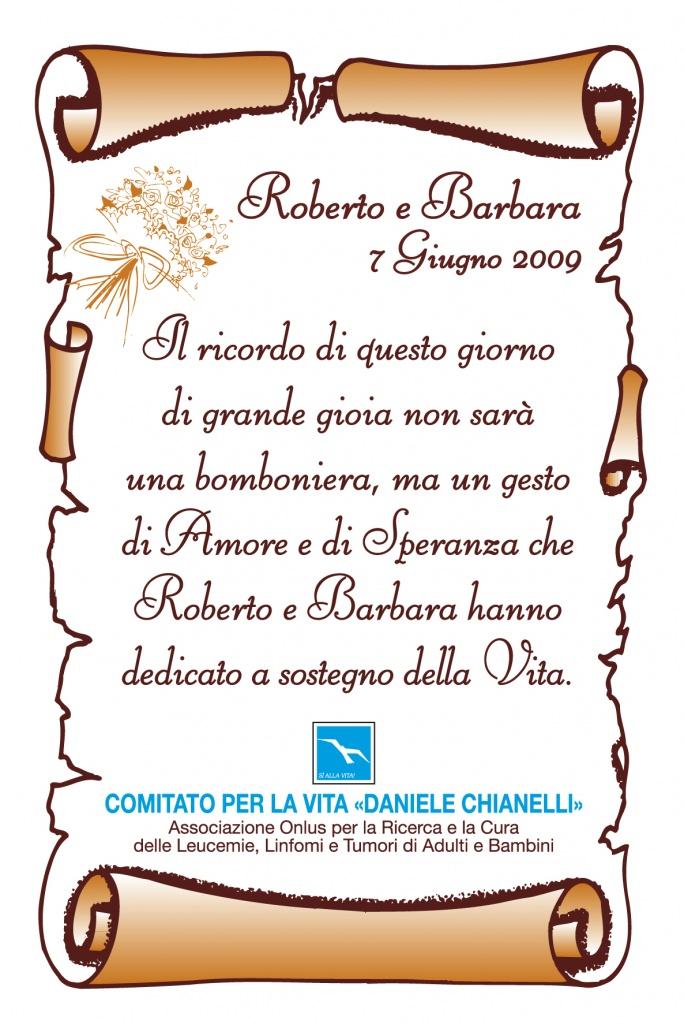 Bomboniere Solidali Comitato Per La Vita Quot Daniele Chianelli Quot