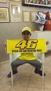 Darwinson in occasione della visita del team di Valentino Rossi