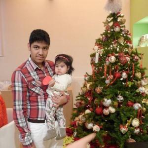 Fernando con la sorella Luciana