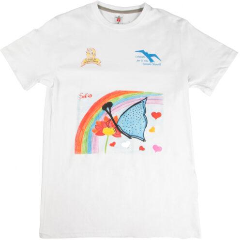 Maglietta Farfalla con Arcobaleno
